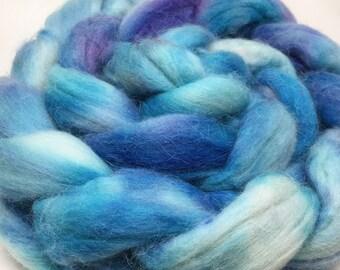 BLUE ORCHID: Hand-Dyed Sock-Blend (Merino/Alpaca/Silk/Nylon) Top (4oz)