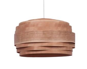 "Free shipping, Pendant light, Pendant lamp,hanging lamp,hanging light, ceiling lamp, ceiling light, Cherry veneer lampshade ,""Light Cloud"""