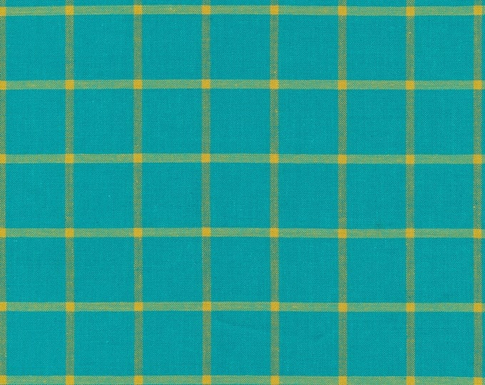 Window Dressing Yarn Dyed Plaid in Turquoise by Cloud 9