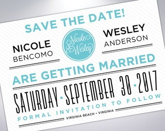 Save The Date Postcard | Engagement Announcement | Printable | Digital | Wedding Announcement with Calendar | Custom Save The Date Postcards