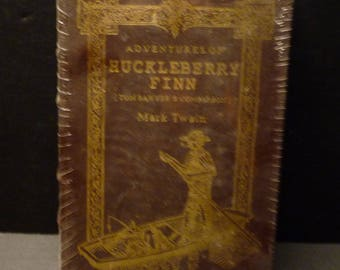 The Adventures of Huckleberry Finn - Full leather collector's Edition still shrinked wrapped