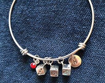 Bunco Bangle Bunco Bracelet Dice Bangle Dice Bracelet
