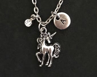 Personalized Unicorn Necklace Unicorn Jewelry