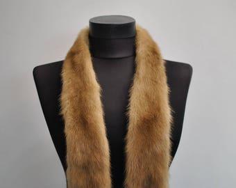 Vintage MINK FUR COLLAR , real fur collar..............(036)