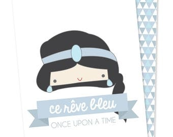 Once Upon stationery - Jasmine - cards printed on recycled paper