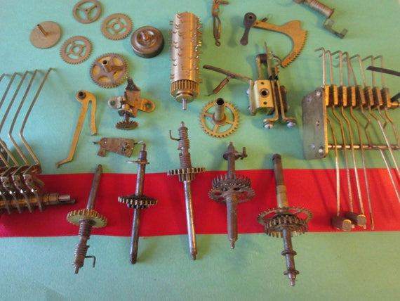 Nice Lot of Antique Solid Brass and Steel Clock Parts for your Clock Projects - Steampunk Art - Metalworking - Altered Art  Etc...