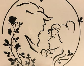 Disney Beauty And The Beast Decal Car Window