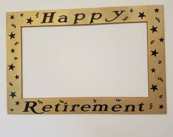 Retirement Photo booth Frame -great as a prop or a decoration! Can be customized!