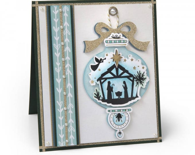 New! Sizzix Framelits Die Set 2PK w/Clear Stamps - Manger by Katelyn Lizardi 662465