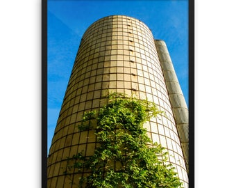 Framed photo paper poster - Red Silo Original Art - Silo Tree