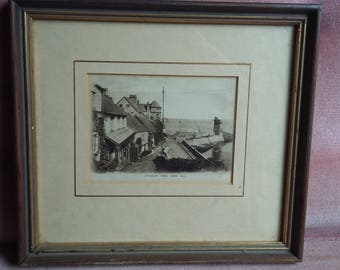 Vintage Print or Photo Lynmouth from Mars Hill.