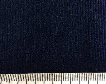 70's Vintage navy blue pinwale corduroy fabric
