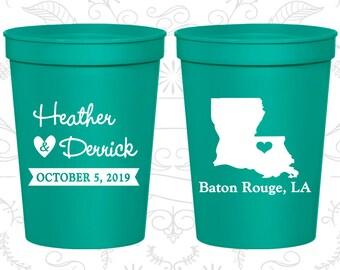 Louisiana Wedding Cups, Louisiana Wedding, Promotional Cups, Destination Wedding, State Cups, souvenir cups (117)