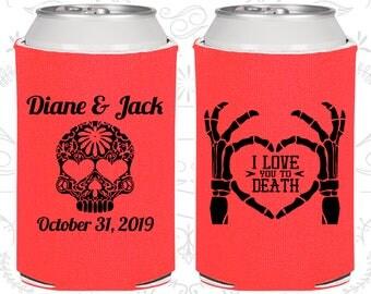 I Love you to Death, Sugar Skull Wedding Favors, Day of the Dead Wedding Favors, Candy Skull Wedding, Dia De Los Muertos Wedding (205)