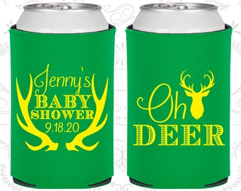 Oh Deer a baby is near, Diaper Baby Shower Gift, Antler Baby Shower, Deer Baby Shower, Diaper Baby Shower Favors (90124)