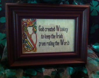 God created Whiskey frame.