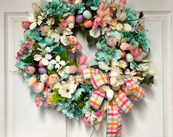 Easter Wreath, Easter Egg Wreath, Pastel Easter Wreath, Spring Wreath, Easter Decor