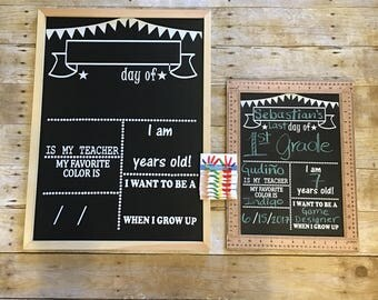 NEW First/Last day of school ruler chalkboard sign/ chalkboard sign/ back to school/ first day of school sign/ first day of school chalkbo