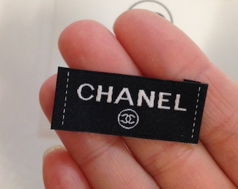 Clothing woven tag / collar lable , 1 Chanel 15mmX40mm