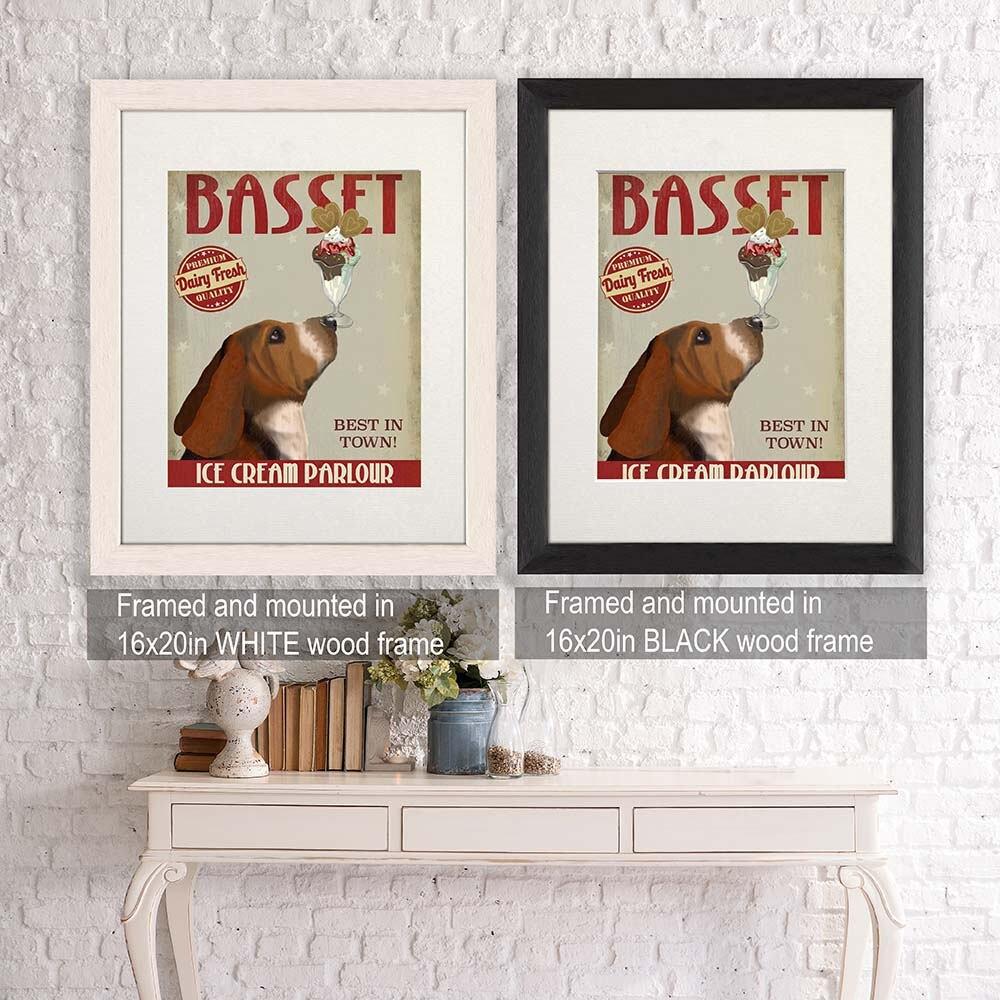 Exceptional Kitchen Decor Basset Hound Ice Cream Dog  Kitchen Signs Kitchen Wall Decor  Kitchen Print