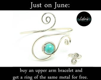 Just for this month: buy any upper arm bracelet / cuff and get a ring