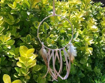 Dreamcatcher Peachy pink dreamcatcher dream catcher ghost catcher mystical decor