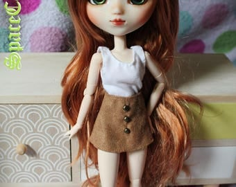 For Pullip suede skirt