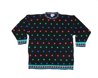 Vintage Poka Dot Colorful Sweater*