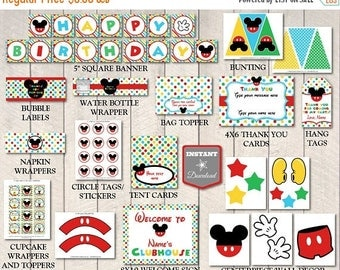 SALE INSTANT DOWNLOAD Mouse Clubhouse Editable Printable Birthday Party Package / 14 items / Clubhouse Collection / Item #1600