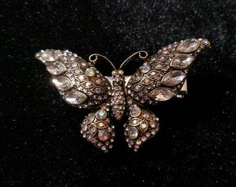 AB Crystal Butterfly Hair Jewelry