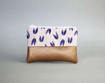 Mini bag-Almond blossom Kuper-cosmetic bag-pencil-makeup bag-Make up bag-case-small bag-purse-vegan