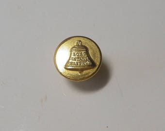Advertisement Button Long Distance Telephone made by Waterbury Button Co Backmark
