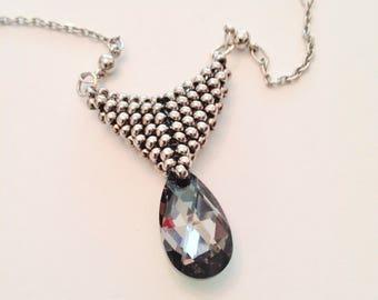 16mm Swarovski Crystal Pear Shaped Pendant