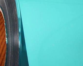 "Aqua Metallic 20"" Heat Transfer Vinyl Film By The Yard"