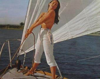 1950's Sexy Pinup Clear Sailing Ahead Calendar Art Print - Free Shipping