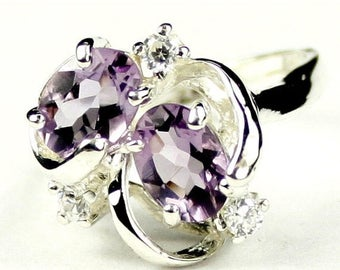 On Sale, 20% Off, Amethyst, 925 Sterling Silver Ring, SR016