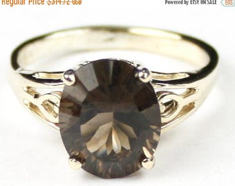 On Sale, 30% Off, Smoky Quartz, 10Ky Gold Ring, R139