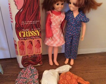 "1973 Ideal ""Swirla-Curler"" and Beautiful  Crissy Doll Two Dolls with One Box"