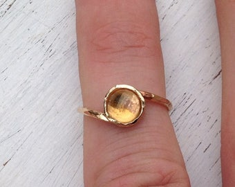 SALE Citrine ring,gold ring,citrine ring gold,dainty ring,gemstone ring,yellow citrine ring,wedding ring,gift for her ,