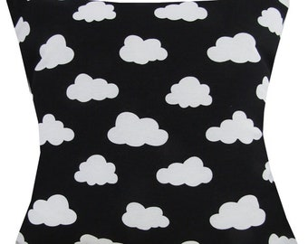 "Designer handmade black & white scandinavian cloud 16 - 24"" cushion cover"