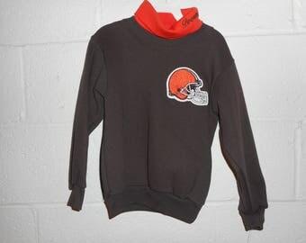 Vintage 90s Majestic Cleveland Browns Sweatshirt Turtleneck Youth Medium NWT