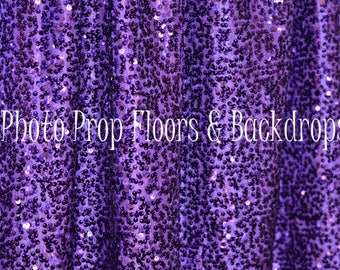 Purple Sequin Fabric Photography Backdrop