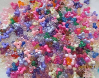 Sale Large Bead Lot Approx 200 Plus Beads, Cute Girls Beads Crafts, Kids Bead Crafts, Kids Bead Lot