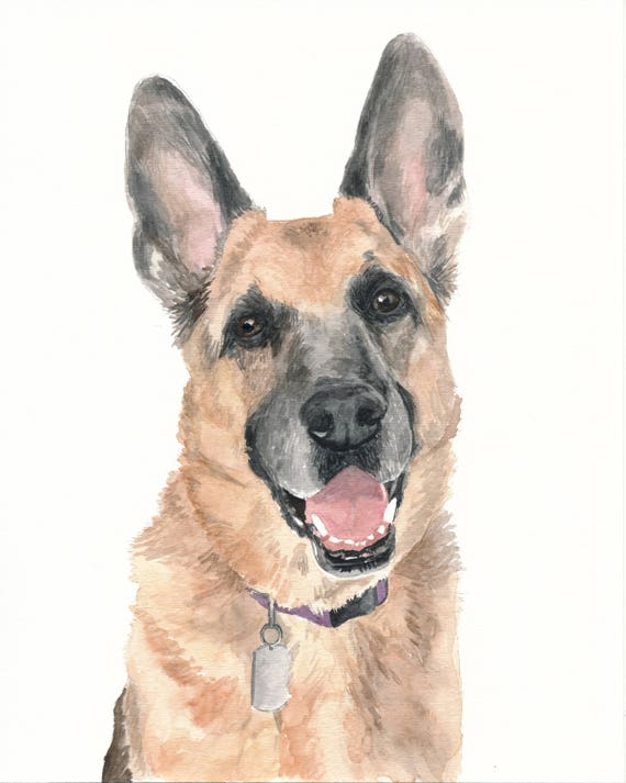 Custom 8x10 Watercolor Painting Reserved for Vickie