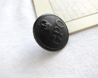 General post office button, post office uniform, postman, postman uniform, postman button,wooden button