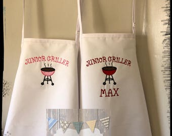 Kids Personalized Apron Kids Apron Personalized Apron Child Apron Personalized Childrens Apron Personalised Apron Kids BBQ Kids Cooking