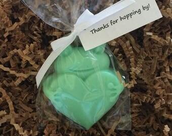Frog Soap Favors, 10 PACK, vegan, Frog Soap, heart, Frog Favors