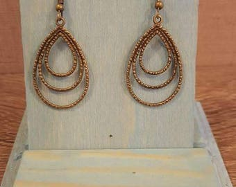 Antique bronze pendant earrings