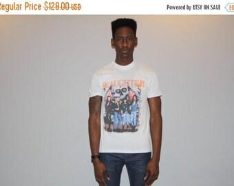 Final SALE - Vintage 1980s Slaughter Rock Band T Shirt - 80s Rock T Shirt -  Heavy Metal Band T Shirt - M00258