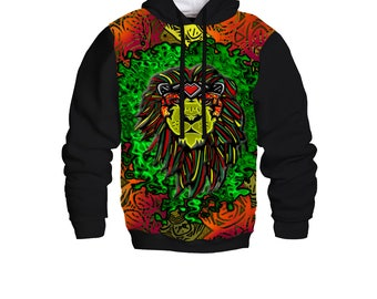 Heart of a Lion Dye Sublimated Baseball Hoodie